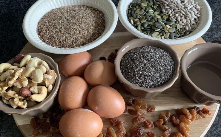 Glutenvrij brood van noten en zaden
